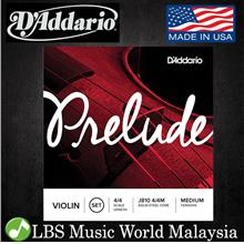D'Addario J810 Prelude Violin String Set 4/4 Scale Medium Tension Dadd