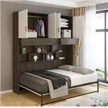 3717141054128 stealth, wall bed with cabinets and mattress