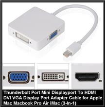 Thunderbolt Port Mini Displayport To HDMI DVI VGA Display Port Adapter