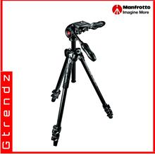 Manfrotto MK290LTA3-3W 290 Light Alu 3-Section Tripod Kit