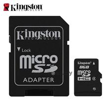 Kingston 8Gb Micro SDHC Class 4 Flash Memory Card With Adapter - (SDC4/8Gb) &#