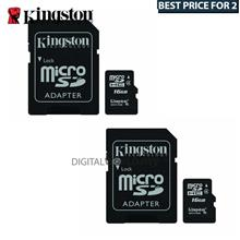 Best Buy For 2x Kingston 16GB Micro SDHC Class 4 Flash Memory Card with Adapte