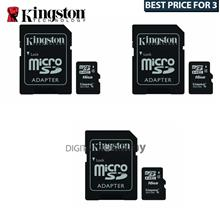 Best Buy For 3x Kingston 16GB Micro SDHC Class 4 Flash Memory Card with Adapte