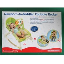 Newborn To Toddler Music Portable Rocker-Green (Ready Stock)