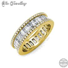 Ring Glamour Lock embellished with crystals from Swarovski® )