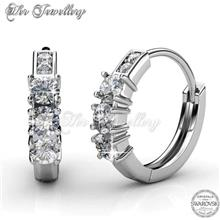 Earrings Journey Ring embellished with crystals from Swarovski® )
