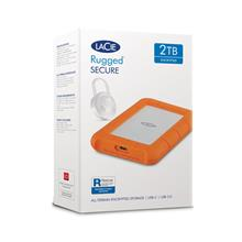 LaCie Rugged SECURE 2TB All-Terrain Encrypted Storage-STFR2000403