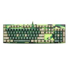 SUNSONNY S - J5 Camouflage Wired Mechanical Gaming Keyboard Blue Switch LED Ba
