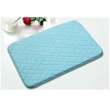 Memory Foam Water Absorption Carpet 40cmx60cm *Blue Grid