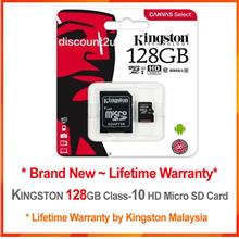 KINGSTON Micro SD 16G 32G 64G 128G Class-10 HD *Lifetime Warranty*