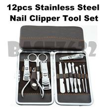 12 pcs  Stainless Steel Nail Care Pedicure Manicure Set Tool Kit
