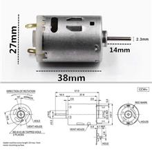 RS-385 12VDC High Speed DC Motor