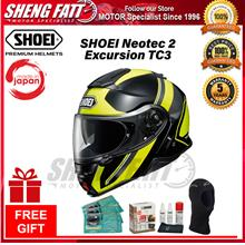 SHOEI NEOTEC 2 EXCURSION TC3 - FLIP FACE HELMET with Gift [ORIGINAL]