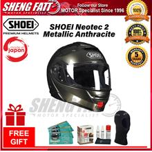 SHOEI NEOTEC 2 METALLIC ANTHRACITE - FLIP FACE HELMET w Gif [ORIGINAL]