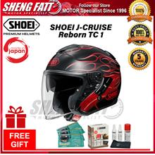 SHOEI J-CRUISE Reborn TC1 Double Visor OPEN FACE with Gift Helmet