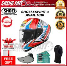 SHOEI XSPIRIT 3 ASAIL TC10 - FULL FACE HELMET with Gift [ORIGINAL]