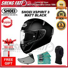 SHOEI XSPIRIT 3 MATT BLACK - FULL FACE HELMET [ORIGINAL]