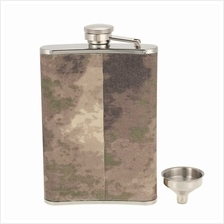 Outdoor Camping Stainless Steel Hip Flask with Small Funnel Alcohol Liquor Win