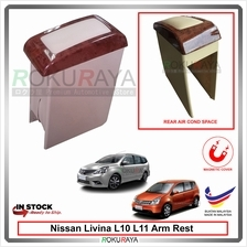 Nissan Livina L10 L11 PVC Armrest Center Console Box Magnetic (Wood)
