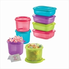 [Bundle] Tupperware Small Rectangular Saver (4pcs) 500ml + Snack N ALL (4pcs)