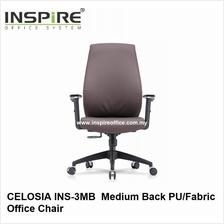 CELOSIA INS-3MB Medium Back PU/Fabric Office Chair