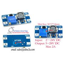 MT3608 2A DC-DC Step Up Power Supply Board Booster Module In 2v-24v Out 5~28V