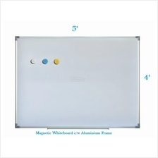 Magnetic White Board 4' x 5' - Free Delivery & Installation