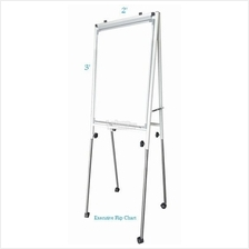 Conference Flip Chart 3' x 2', Adjustable Height c/w Roller