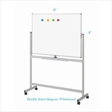 Double Sided Magnetic White Board 4' x 6'-Free Delivery & Installation