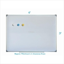Magnetic White Board 3' x 4' - Free Delivery & Installation
