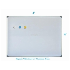 Magnetic White Board 4' x 4' - Free Delivery & Installation