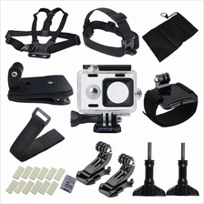 Sheingka Sports Camera Accessory Set for Xiaoyi Camera (BLACK)