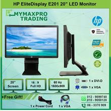 HP EliteDisplay E201 20' inch LED Backlit Monitor LCD Screen VGA DVI