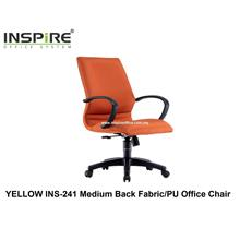 YELLOW INS-241 Medium Back Fabric/PU Office Chair