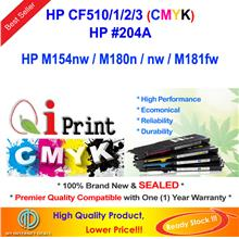 Qi Print HP 204 CF510 511 512 513 For M154 M180n M181 Color Toner CMYK