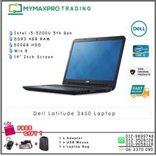 Dell Latitude 3450 Intel Core i5-5200u 2.2GHz 4GB RAM 500GB HDD Win8