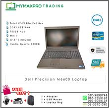 Dell Precision M6600 Intel 2640m 8GB 750GB HDD Laptop Quadro 3000M