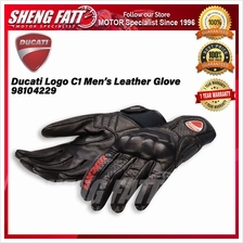 Ducati Logo C1 Men\u2019s Leather Glove 98104229 - [ORIGINAL]