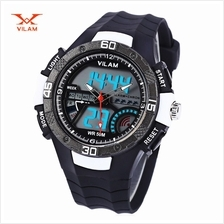 VILAM 09009 - 02 DUAL MOVT DIGITAL QUARTZ SPORTS WATCH CALENDAR ALARM CHRONOGR