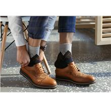 Rabbit Lamb Wool Men Socks Anti-Odour Anti-Bacteria Lattice Pattern