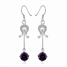 PAIR OF STYLISH CHIC WOMEN'S RHINESTONE (PURPLE)