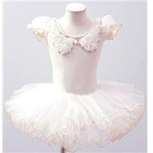 White Ballet Dance Dress (Fashion Short Sleeve) Size 130