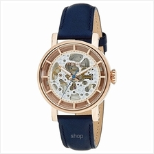 Fossil ME3086 Women Original Boyfriend Automatic Navy Leather Watch