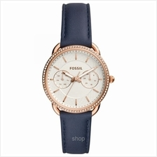 Fossil Women Tailor Multifunction Navy Leather Watch - ES4394