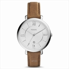 Fossil Jacqueline Silver Dial Tan Leather Strap Women's Watch - ES3708