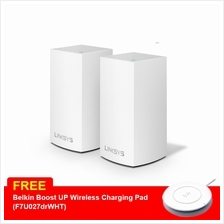 Linksys Velop Junior Intelligent Mesh WiFi System, 2-Pack White AC2600 (WHW010