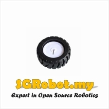 43mm D Hole Rubber Wheel For N20 Micro Motor