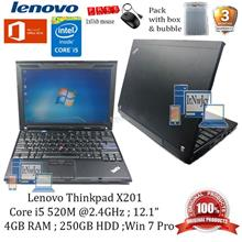 Refurbished Lenovo Thinkpad X201 Core i5-520m,2GBRAM,250GBHDD