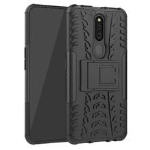 Oppo F11 Pro Silicon Stand Tough Armor Case Cover