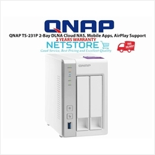 QNAP TS-231P 2-Bay DLNA Cloud NAS, Mobile Apps, AirPlay Support: Best Price  in Malaysia